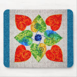 Whimsy Hearts Quilt - Block #1 Mouse Pad