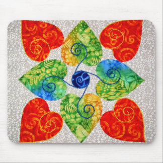 Whimsy Hearts Quilt - Block # 1 Mouse Pad