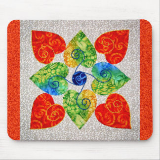 Whimsy Hearts Quilt - Block #1 Mouse Mats