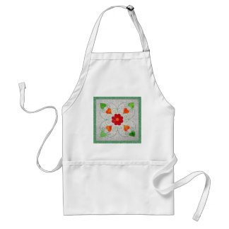 Whimsy Hearts Quilt - Block #2 Adult Apron