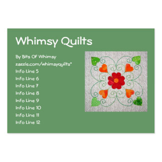 Whimsy Hearts Quilt - Block #2 Large Business Cards (Pack Of 100)