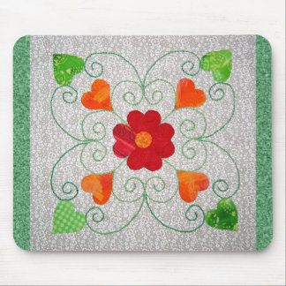 Whimsy Hearts Quilt - Block #2 Mouse Pad