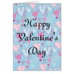 Whimsy Hearts Valentine's Day Greeting Card D2