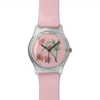 Whimsy Hummingbird (pink) Watch