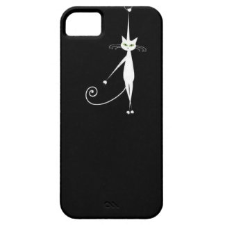 Whimsy Kitty Hung Barely There Case for 4 iPhone 5 Cover