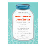 Whimsy Mason Jar Engagement Party Custom Announcements