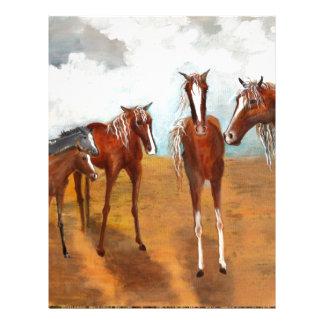 Whimsy Mustangs Letterhead Template