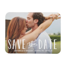 Whimsy Overlay   Save the Date Magnet