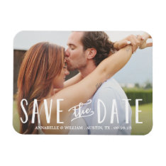 Whimsy Overlay | Save The Date Magnet at Zazzle