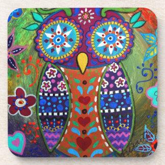 whimsy owl coaster