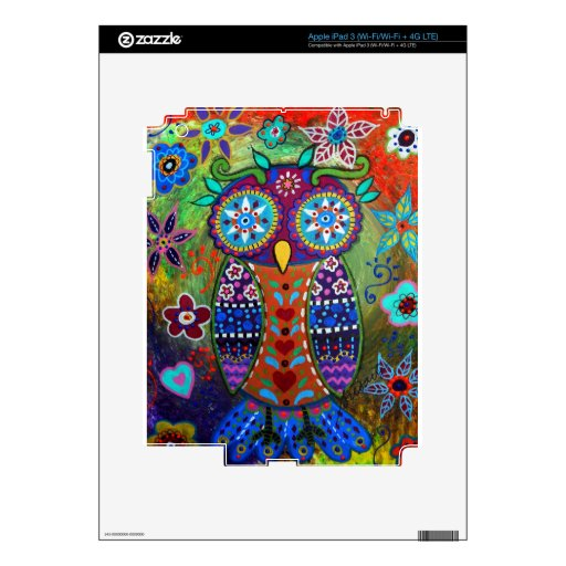 whimsy owl decals for iPad 3