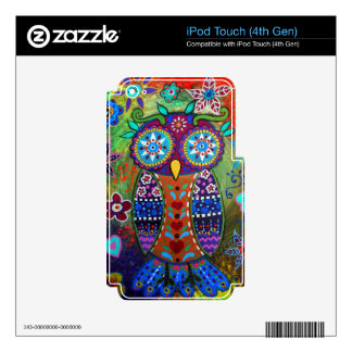 whimsy owl iPod touch 4G decals