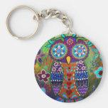 whimsy owl key chain