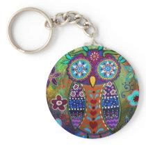 whimsy owl keychain