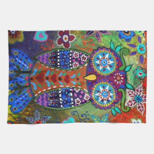 Whimsy Owl Kitchen Towel
