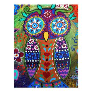 whimsy owl letterhead design