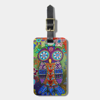 whimsy owl tags for luggage