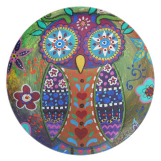 whimsy owl plate