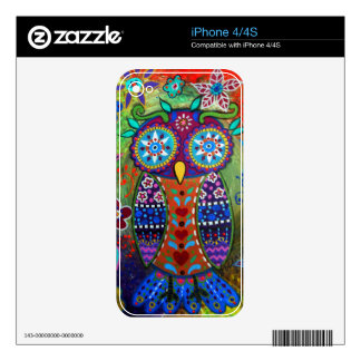 whimsy owl skin for iPhone 4