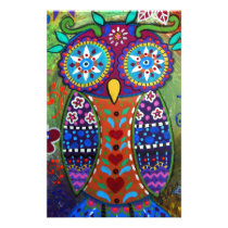 whimsy owl stationery