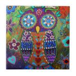 whimsy owl tiles