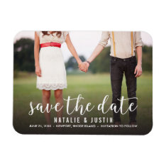 Whimsy Photo Save The Date Announcement Magnet at Zazzle