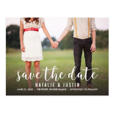 Whimsy Photo Save The Date Announcement Postcard at Zazzle