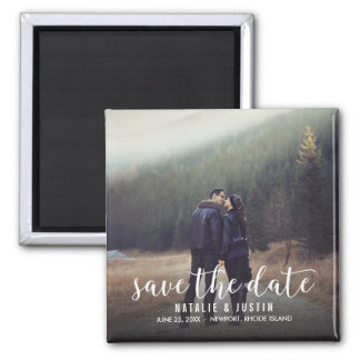 Whimsy Photo Save the Date Square Announcement Magnet