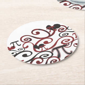 Whimsy Pi Round Paper Coaster