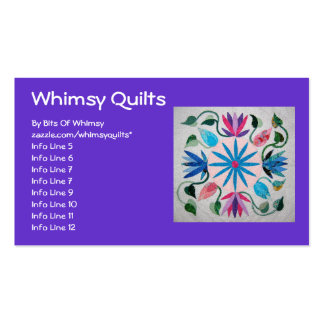 Whimsy Quilt Double-Sided Standard Business Cards (Pack Of 100)
