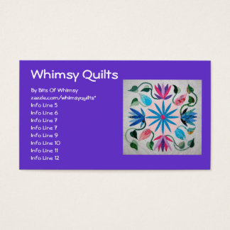 Whimsy Quilt Business Card