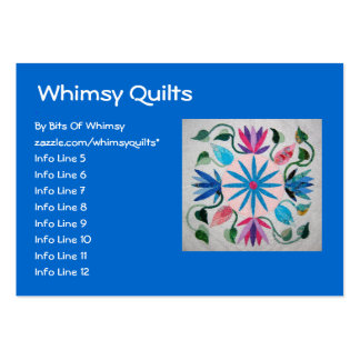 Whimsy Quilt Large Business Cards (Pack Of 100)