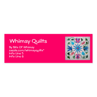 Whimsy Quilt Double-Sided Mini Business Cards (Pack Of 20)