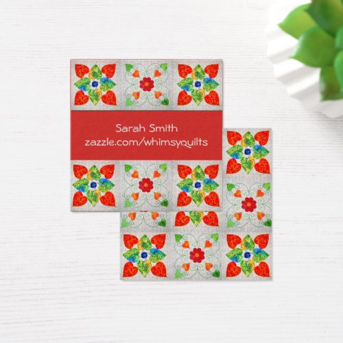 Whimsy Quilt Business Cards