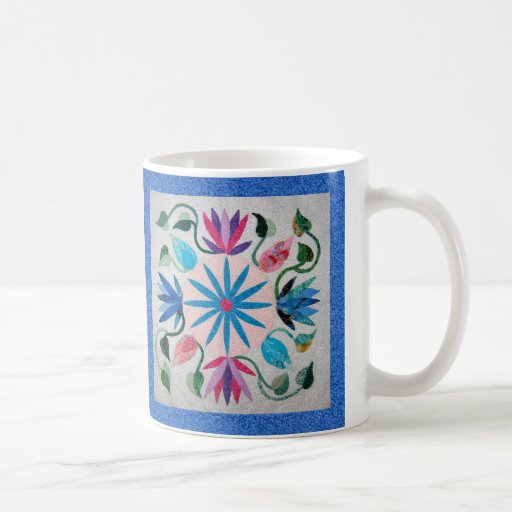 Whimsy Quilt Classic White Coffee Mug