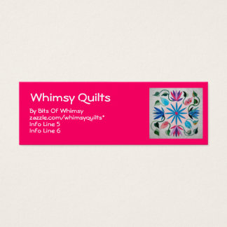 Whimsy Quilt Mini Business Card