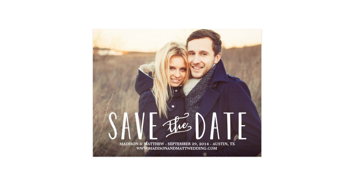 Whimsy | Save the Date Postcard | Zazzle