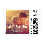 Whimsy Script | Save The Date Stamps at Zazzle