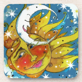 Whimsy Sun and Moon Coasters