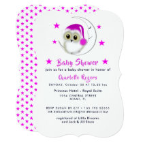 Whimsy Super Cute Snowy Owl Baby Shower Invites