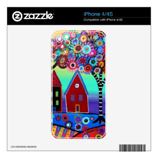 Whimsy Town By Prisarts iPhone 4 Decal