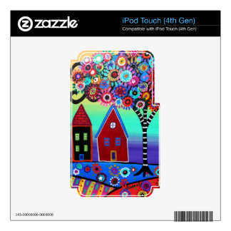 Whimsy Town By Prisarts Skins For iPod Touch 4G