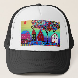 Whimsy Town By Prisarts Trucker Hat