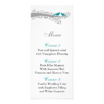 whimsy tree blue lovebirds menu cards