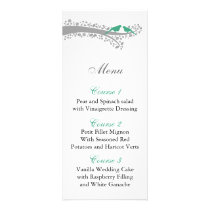 whimsy tree mint lovebirds menu cards