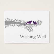 whimsy tree purple lovebirds wishing well cards