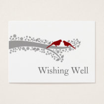 whimsy tree red lovebirds wishing well cards