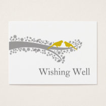 whimsy tree yellow lovebirds wishing well cards