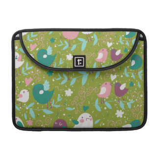 Whimsy Tweety Birds on Vines Sleeve For MacBooks