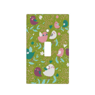 Whimsy Tweety Birds on Vines Switch Plate Cover
